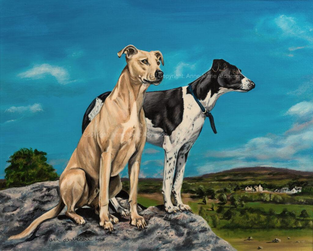 Commission two dog portrait