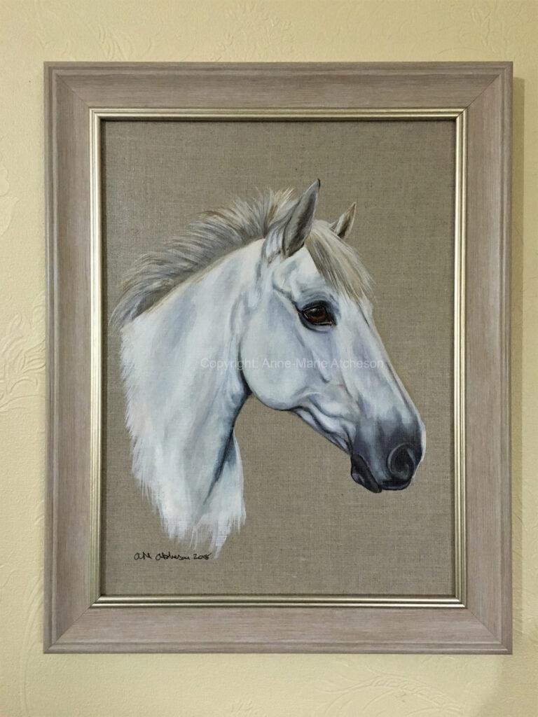Commission Grey horses head