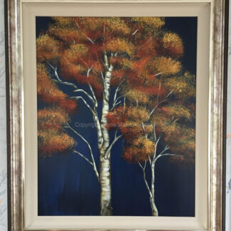 Autumn Birch original artwork