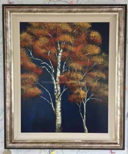 Autumn Birch original artwork
