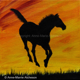 Sunset Frolics canvas print