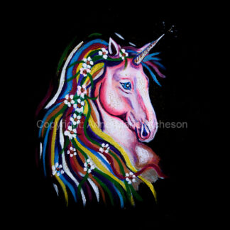Unicorn canvas print 8 x 8 inches
