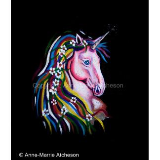 Unicorn canvas print 8 x 8 inches